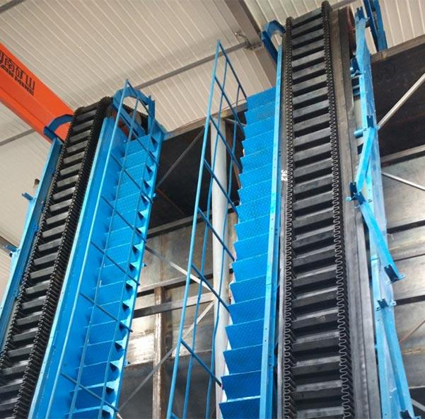 Steeply Inclined Belt Conveyor