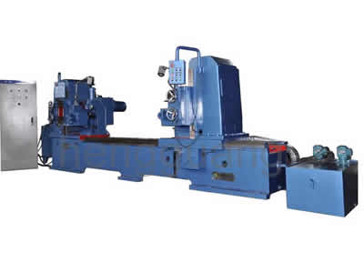 Flat machine with double end milling groove for roller carrier